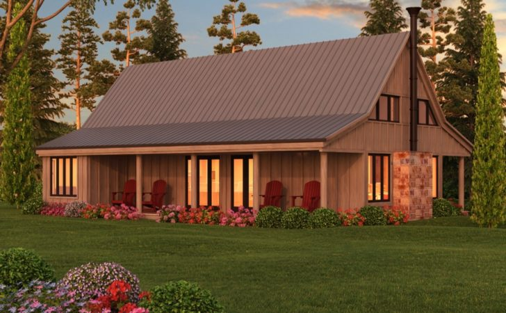 Bedroom Cottage Barn Style House Plans Rustic