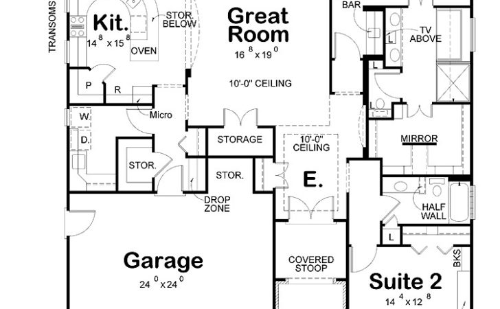 Bedroom Designs Two House Plans Large Garage