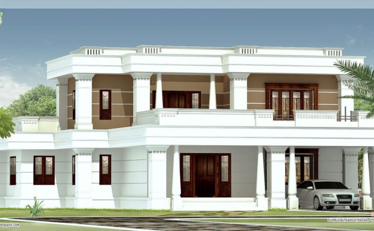 Bedroom Flat Roof Villa Kerala Home Design Floor Plans
