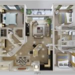 Bedroom Furniture Apartment Layout Living Room