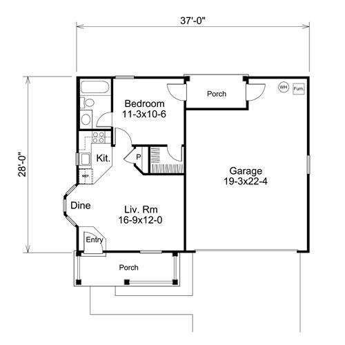 Bedroom Garage Apartment Floor Plans Hmm Might Could