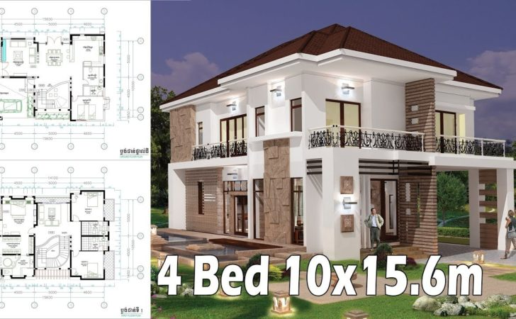 Bedroom Home Plan Exterior Interior