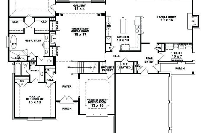 Bedroom House Blueprints Cozy Design Plans Two