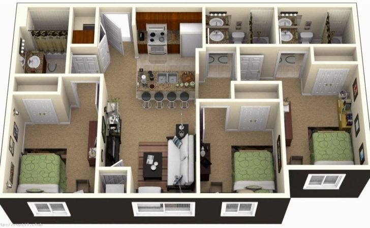 Bedroom House Plans Design Bathroom