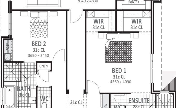 Bedroom House Plans Designs Perth Vision One Homes