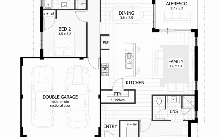 Bedroom House Plans Double Garage Musicdna