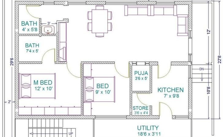 Bedroom House Plans East Facing Plot