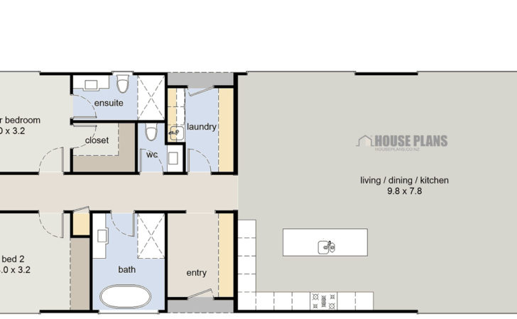 Bedroom House Plans Modern Floor Bungalow