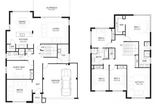 Bedroom House Plans Story Floor