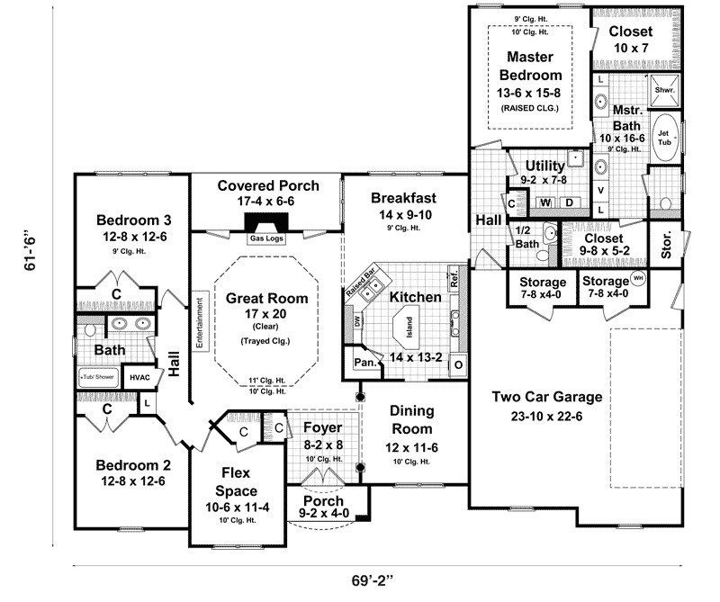Bedroom House Plans Walkout Basement Luxury Ranch