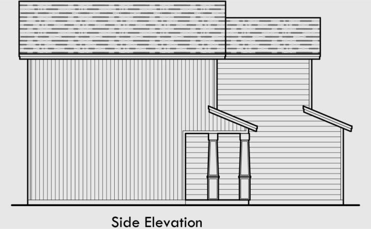 Bedroom House Plans Wide Narrow