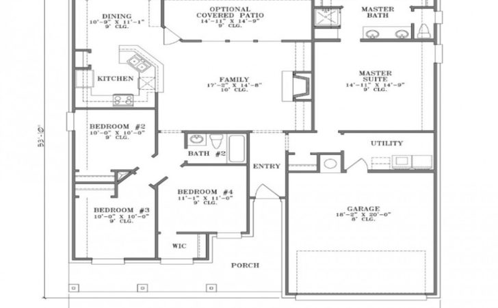 Bedroom House Simple Plan Small Two Floor