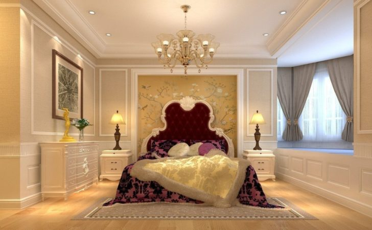 Bedroom Interior Design Bed Chandelier Bedside