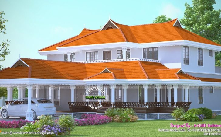 Bedroom Luxury Villa Plan Kerala Home Design Floor