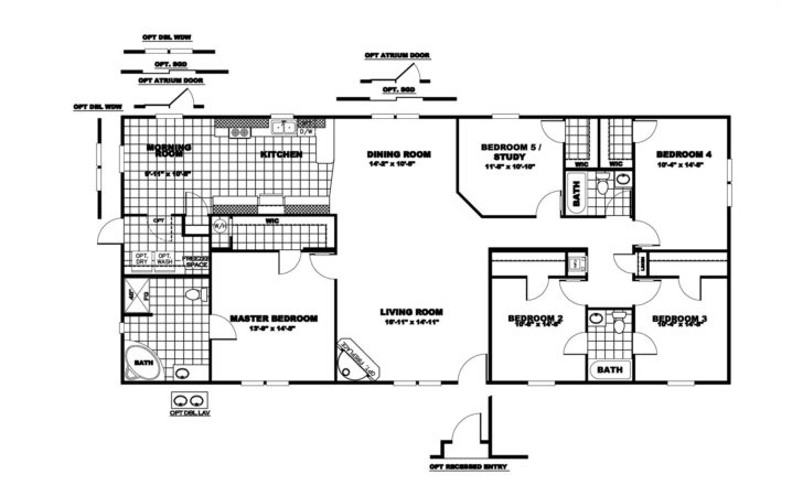 Bedroom Mobile Home Floor Plans