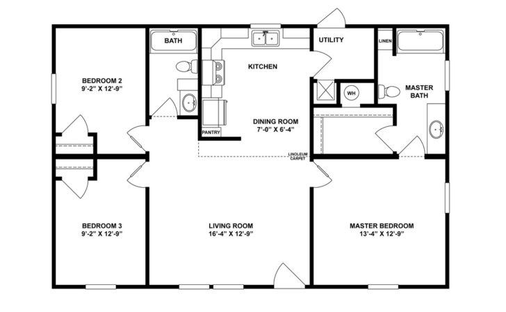 Bedroom Modular Home Plans Simple Floor Double