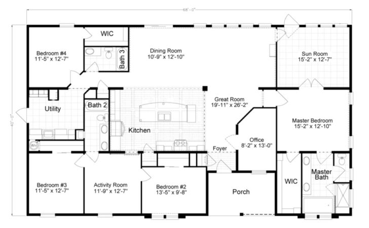 Bedroom Modular Home Plans Simple Floor Mobile