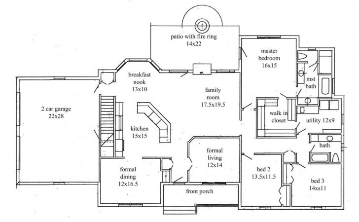 Bedroom Ranch Style House Plans Fresh