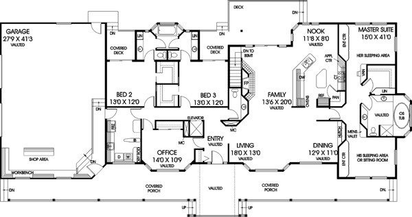Bedroom Ranch Style House Plans New