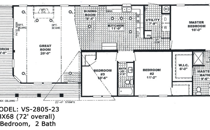 Bedroom Single Wide Trailer Floor Plans