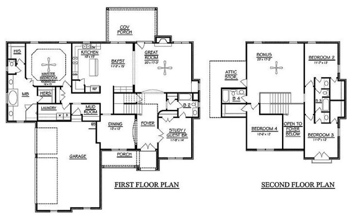Bedroom Storey House Plans Homes Floor