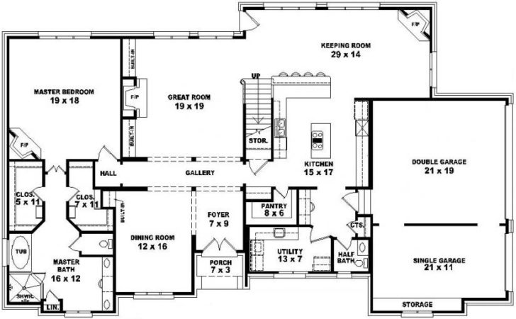 Bedroom Story House Floor Plans