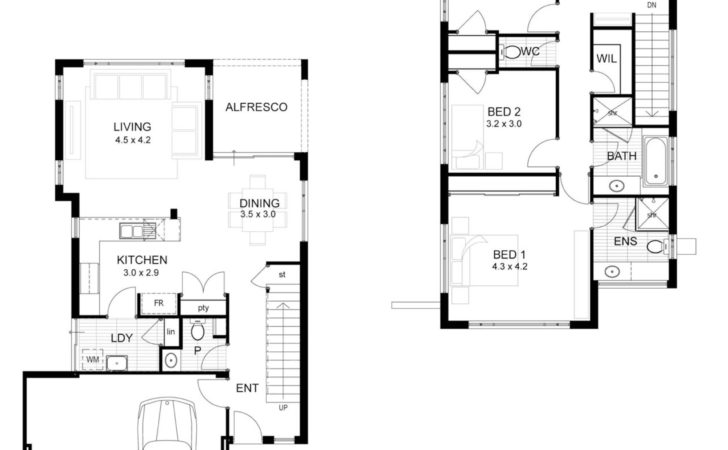 Bedroom Story House Plans Home