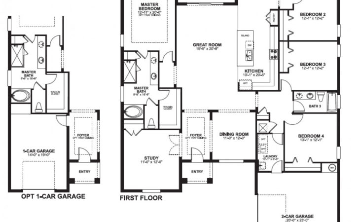 Bedroom Story House Plans One