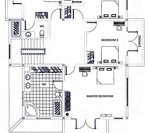 Bedroom Villa Floor Plan Mui