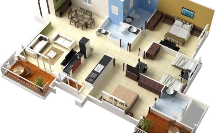 Bedrooms House Design Lay Out