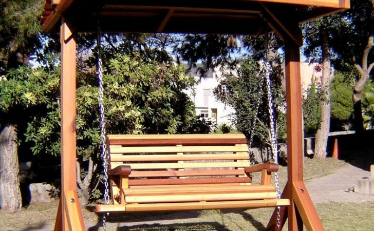 Bench Swing Sets Built Last Decades Forever Redwood