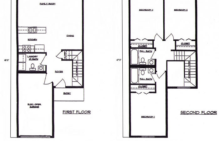 Beroom Townhouse Floorplans Lincoln Square Apartments