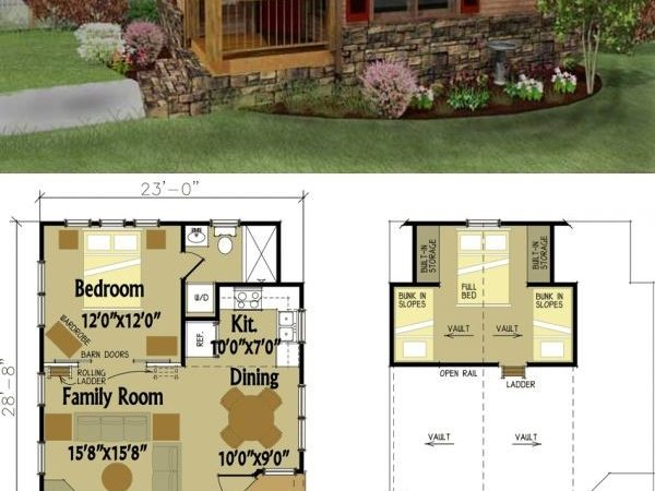Best Cabin Plans Loft Ideas Pinterest Sims