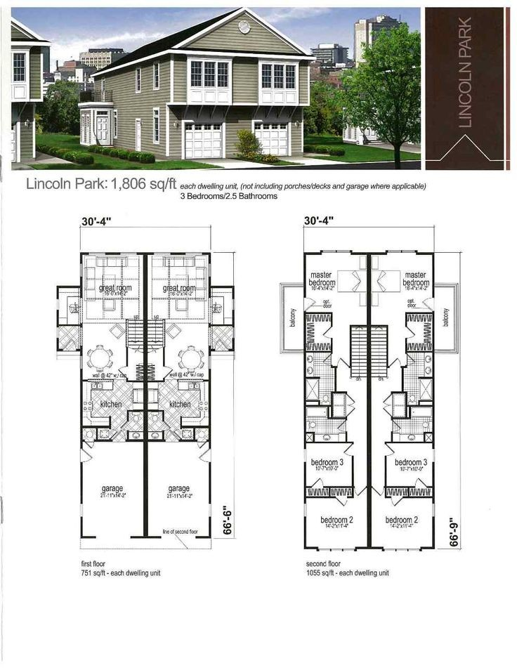 Best Duplex Fourplex Plans Pinterest