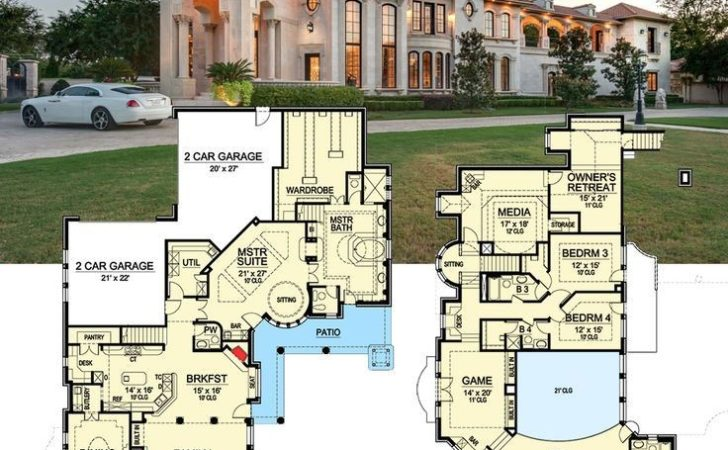 Best Luxurious Floor Plans Pinterest House