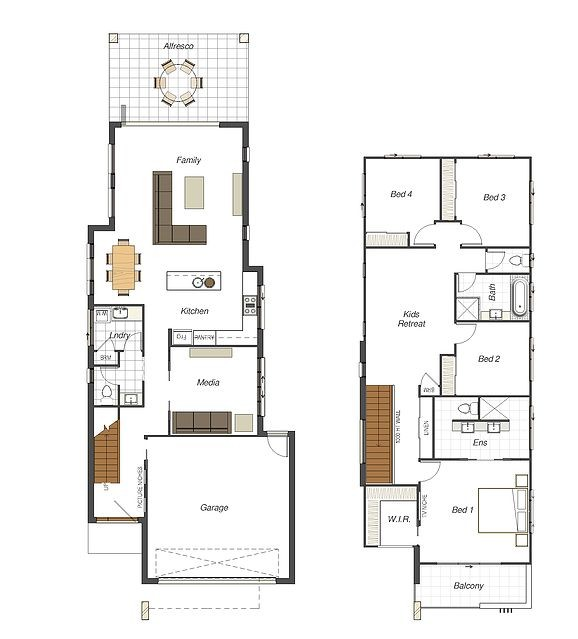 Best Modern Minimalist Narrow Home Plans