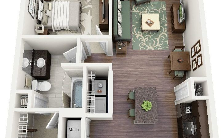 Best One Bedroom Apartments Ideas Pinterest