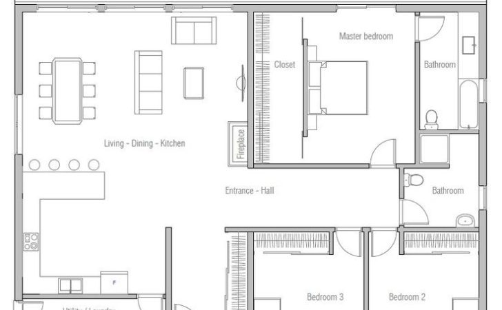 Best One Floor House Plans Ideas Only Pinterest