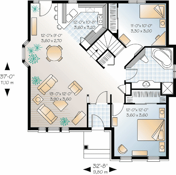 Best Open Floor House Plans Cottage