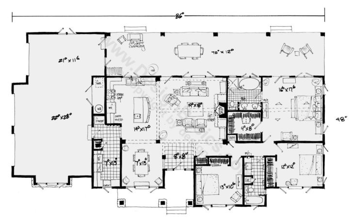 Best Ranch House Plans Ever Inspirational Bedroom