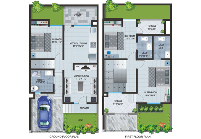 Best Row House Plans Home Building