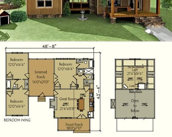 Best Small Cabin Plans Ideas Pinterest Home