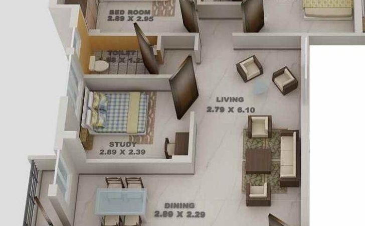 Bhk Apartment Sale Blue Print