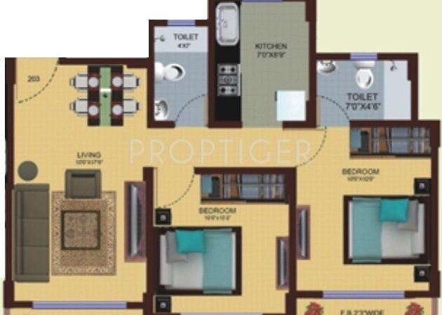 Bhk Apartment Sale Lalani Orchid