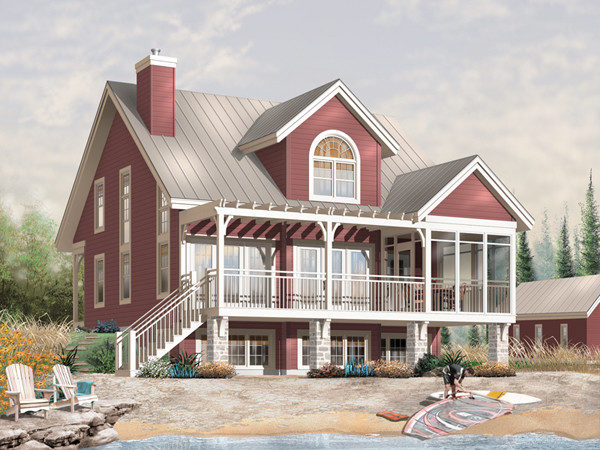 Blakeslee Waterfront Home Plan House Plans