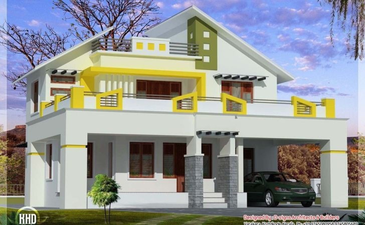 Blend Contemporary Kerala Style Home