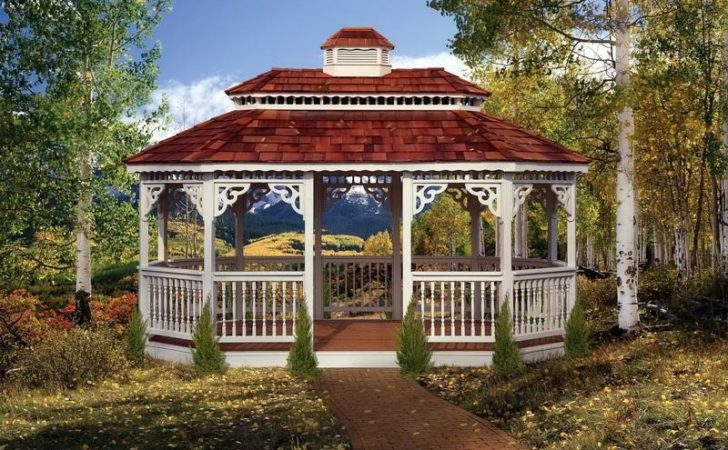 Bloombety Oval Covered Gazebo Plans