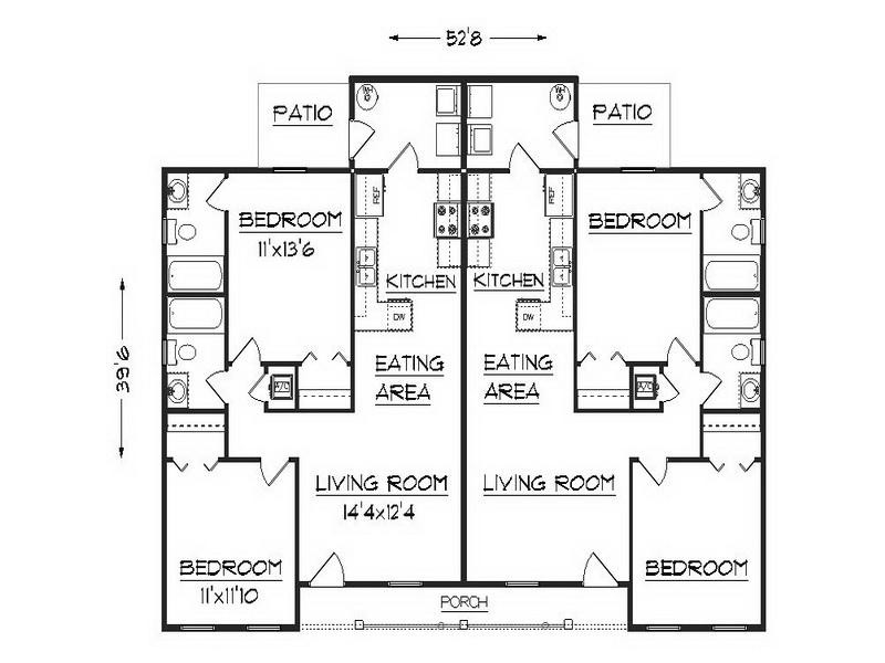 Bloombety Simple Duplex Floor Plans