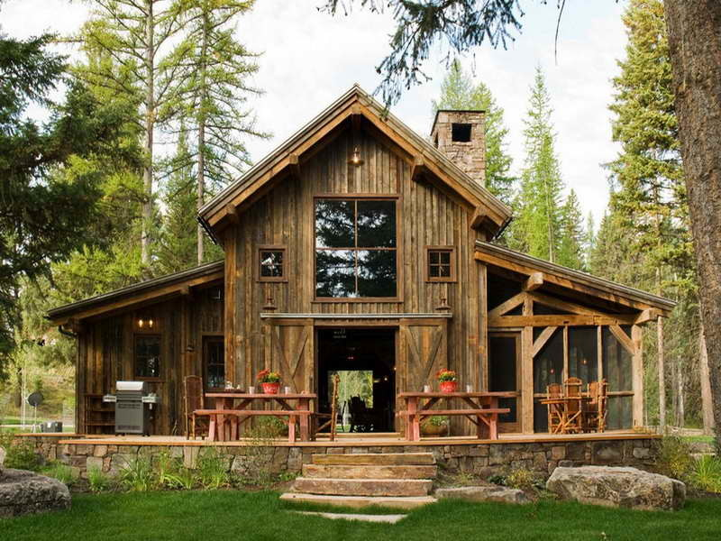 Bloombety Small Rustic Home Plans Front