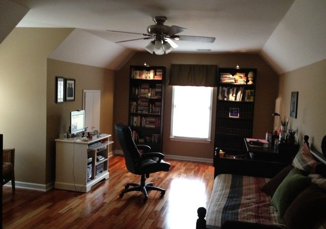 Bonus Room Office Craft Traditional Home